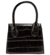 Mini Croc Satchel - Black