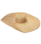 """Full Shade Ahead"" Oversized Sun Hat - Natural"