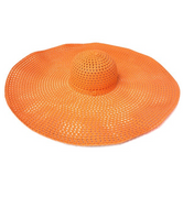 """Full Shade Ahead"" Oversized Sun Hat - Orange"