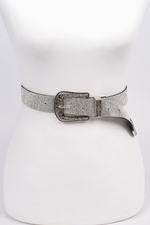 Plus Size Rhinestone Western Buckle Belt