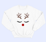 "Plus Size ""Ms Red Nose"" Sweatshirt - White"