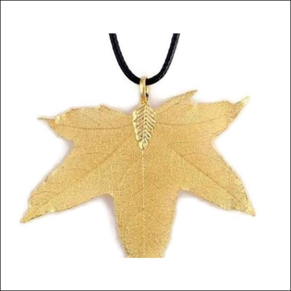 Bohemia Real Copper-Plated Maple Leaf Necklace - Adelene Green