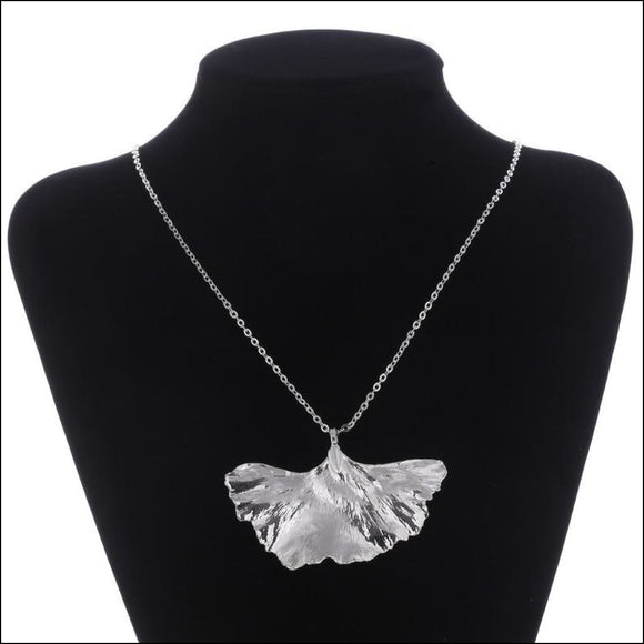 Gingko Biloba {Real Leaf} Silver-Plated Necklace - Adelene Green