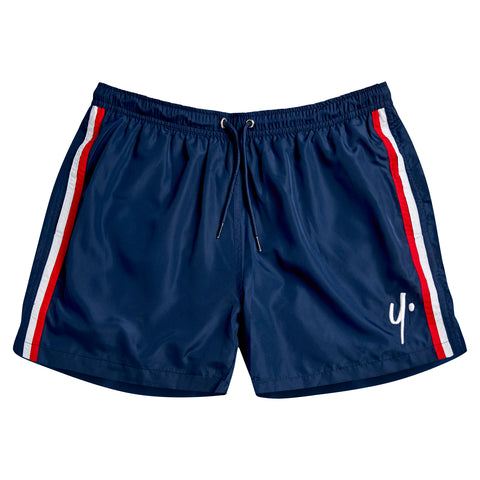 Navy Swim Shorts - Stitch