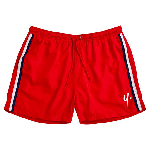 Red Swim Shorts- Stitch