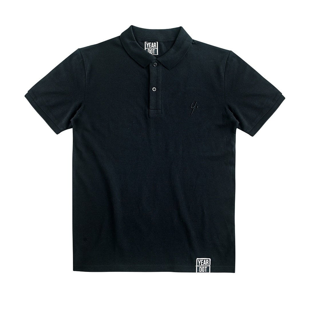 Black Polo Shirt - Stitch