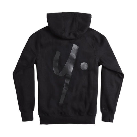 Black on Black Zip Hoodie - Icon
