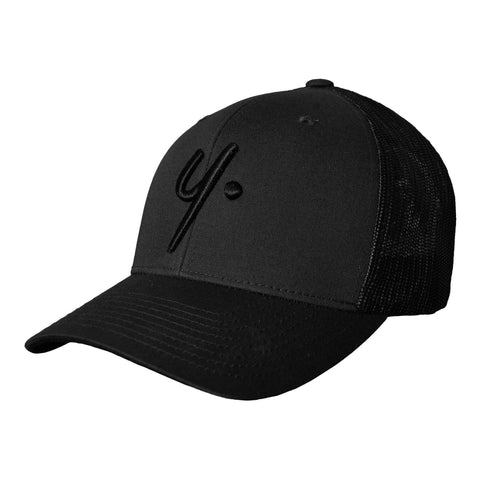 Black on Black Snapback - Icon