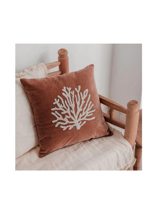 A-La Velvet Cushion Coral - 1love2hugs3kisses Ibiza