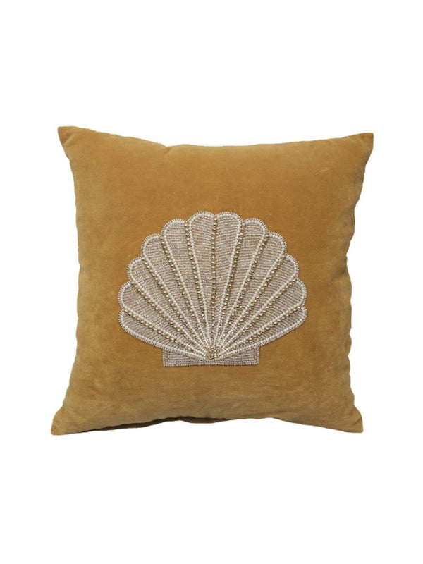 A-La Velvet Cushion Shell Mustard - 1love2hugs3kisses Ibiza