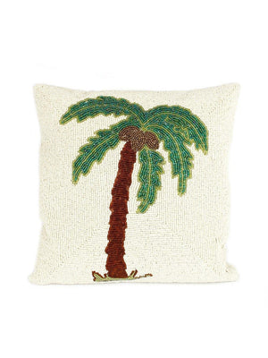 A-La Small beads cushion single palmtree - 1love2hugs3kisses Ibiza
