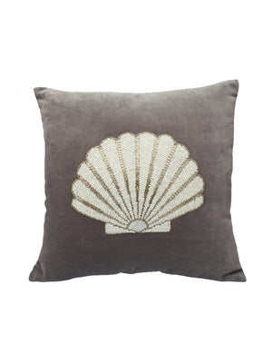 A-La Velvet Cushion Shell Grey - 1love2hugs3kisses Ibiza