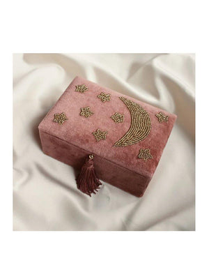 A-La Velvet box small with Moon & stars Terra - 1love2hugs3kisses ibiza