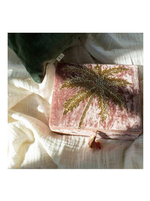 A-La Velvet box with palmtree in beads - 1love2hugs3kisses Ibiza