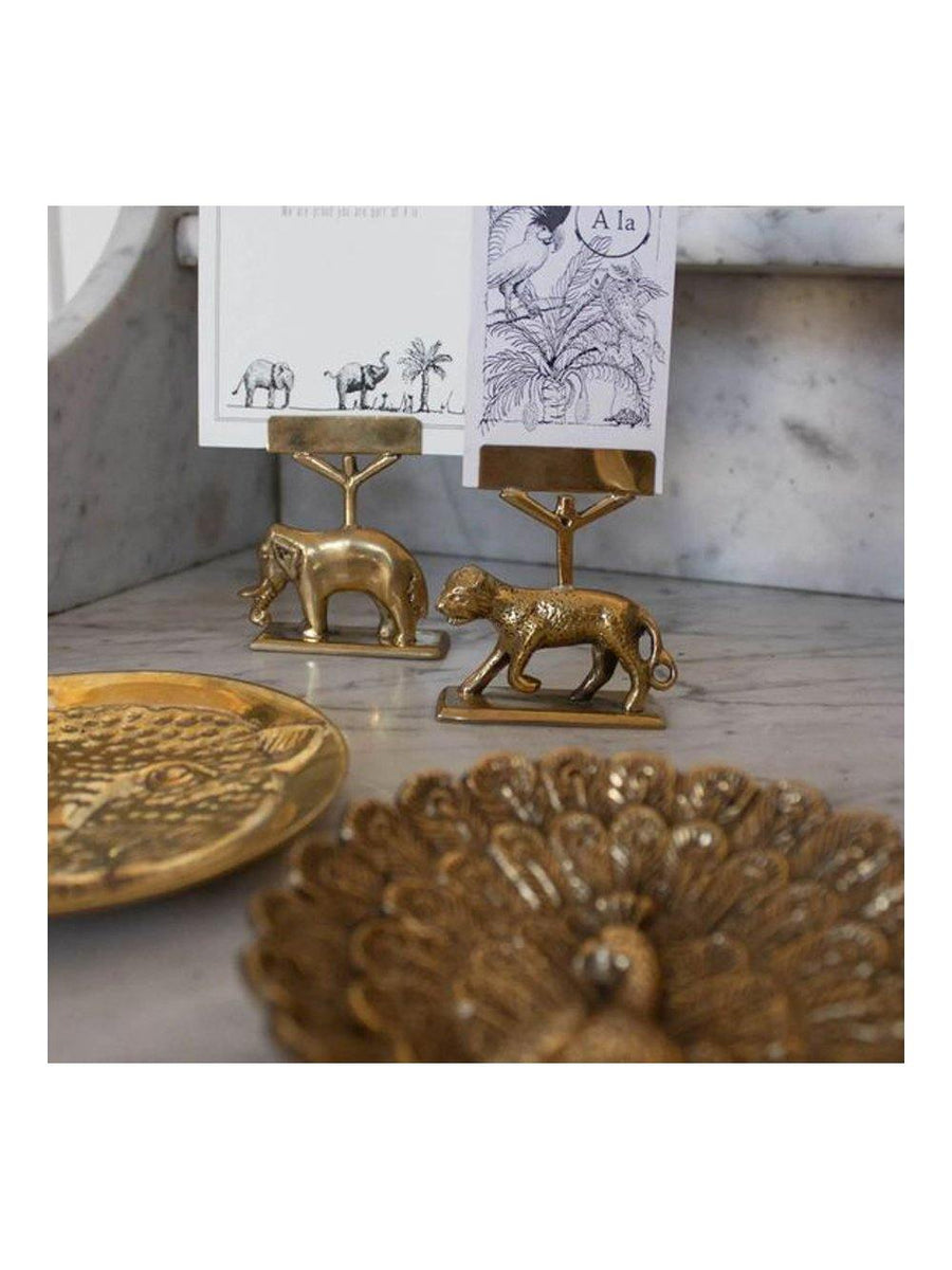 A-La Elephant Card holder gold