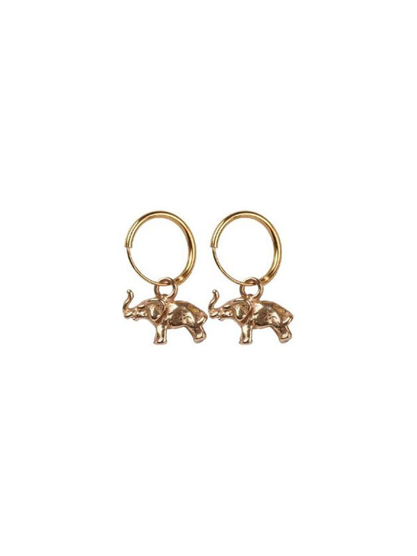 A-La Elephant pair of Earrings Gold