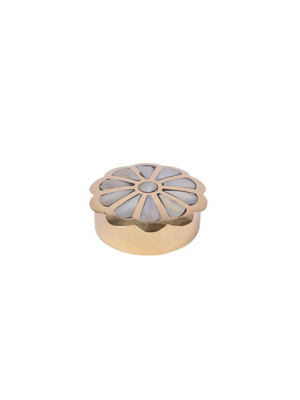 A-La Flower Ring + Teeth box Gold