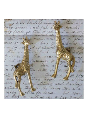 A-La Giraffe doorhandle Gold