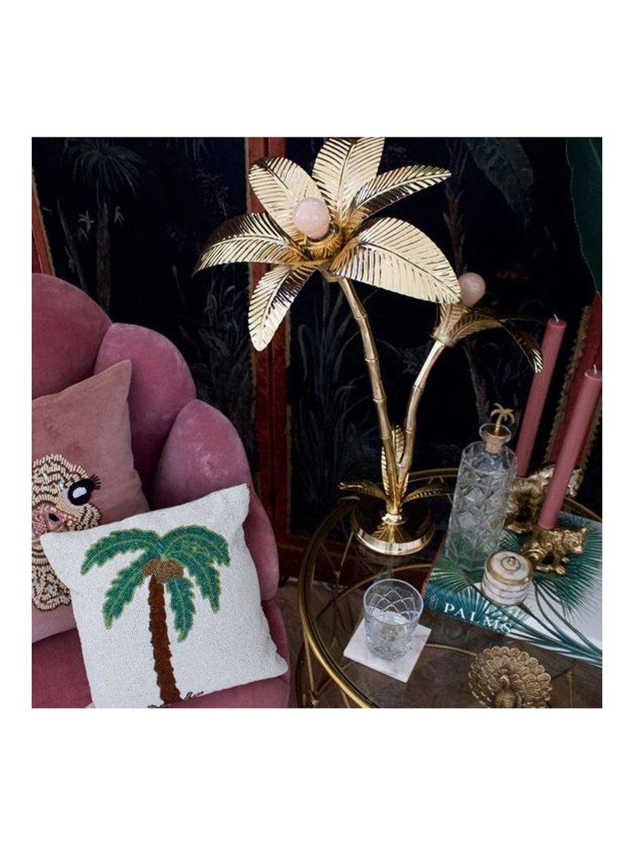 A-La Palm Tree Lamp Brass