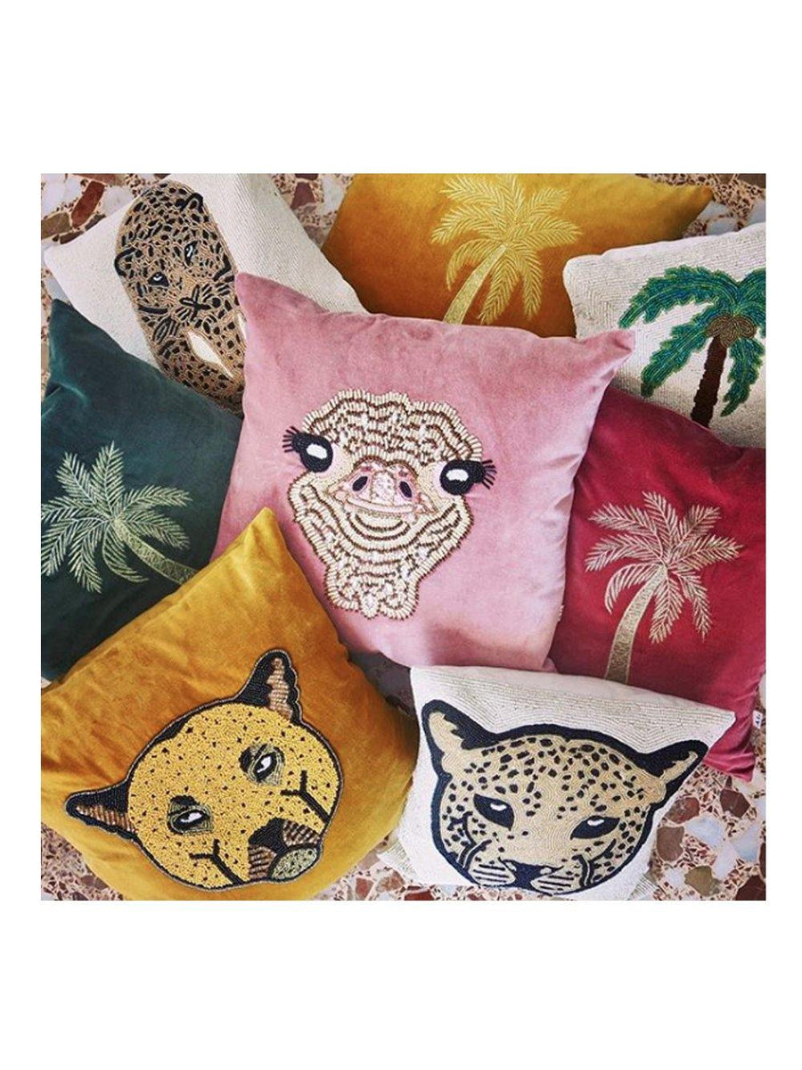 A-La Velvet Cushion Leopard - 1love2hugs3kisses Ibiza
