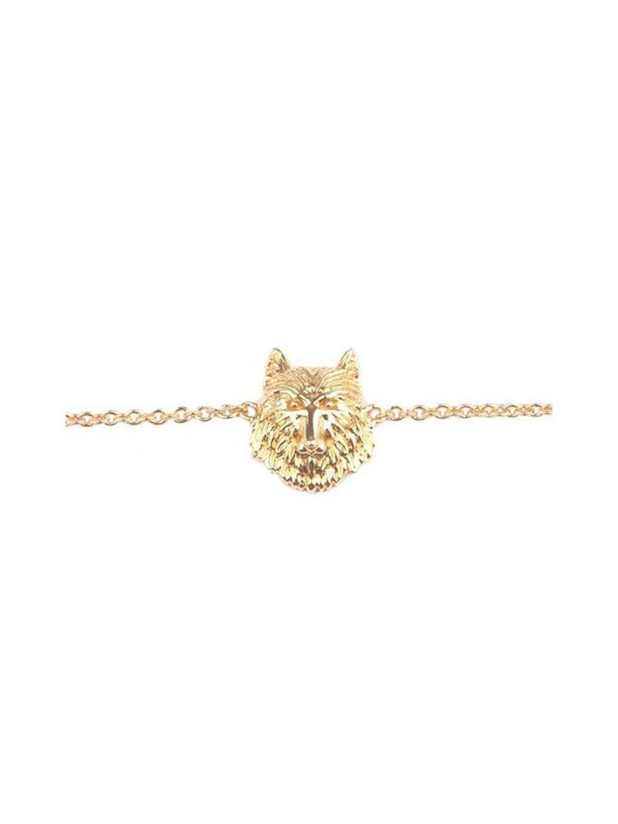 AllTheLuckInTheWorld Bracelet Wolf Gold - 1love2hugs3kisses Ibiza