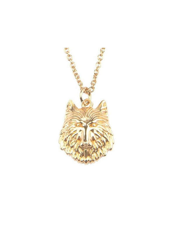 AllTheLuckInTheWorld Necklace Wolf Gold - 1love2hugs3kisses Ibiza
