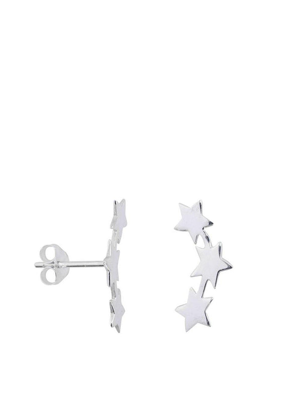 Anna + Nina Three Star Stud Earring Silver - 1love2hugs3kisses Ibiza