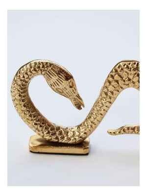 Anna + Nina Snake Card Holder gold - 1love2hugs3kisses Ibiza