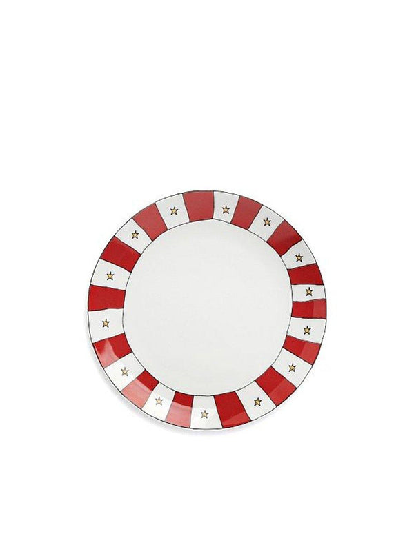 Anna + Nina Star Dessert Plate Small Red white - 1love2hugs3kisses Ibiza