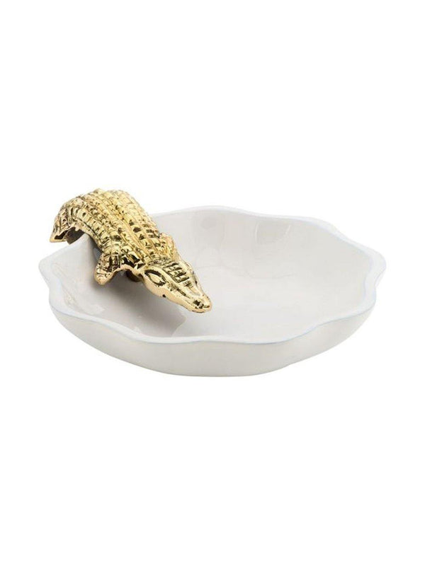 Anna + Nina Alligator Trinket Dish Gold - 1love2hugs3kisses Ibiza