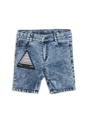 Band Of Boys Just a Triangle Patch Denim Shorts - 1love2hugs3kisses Ibiza