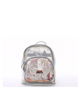 1love2hugs3kisses Bunny Glitter Mini Backpack Silver - 1love2hugs3kisses Ibiza