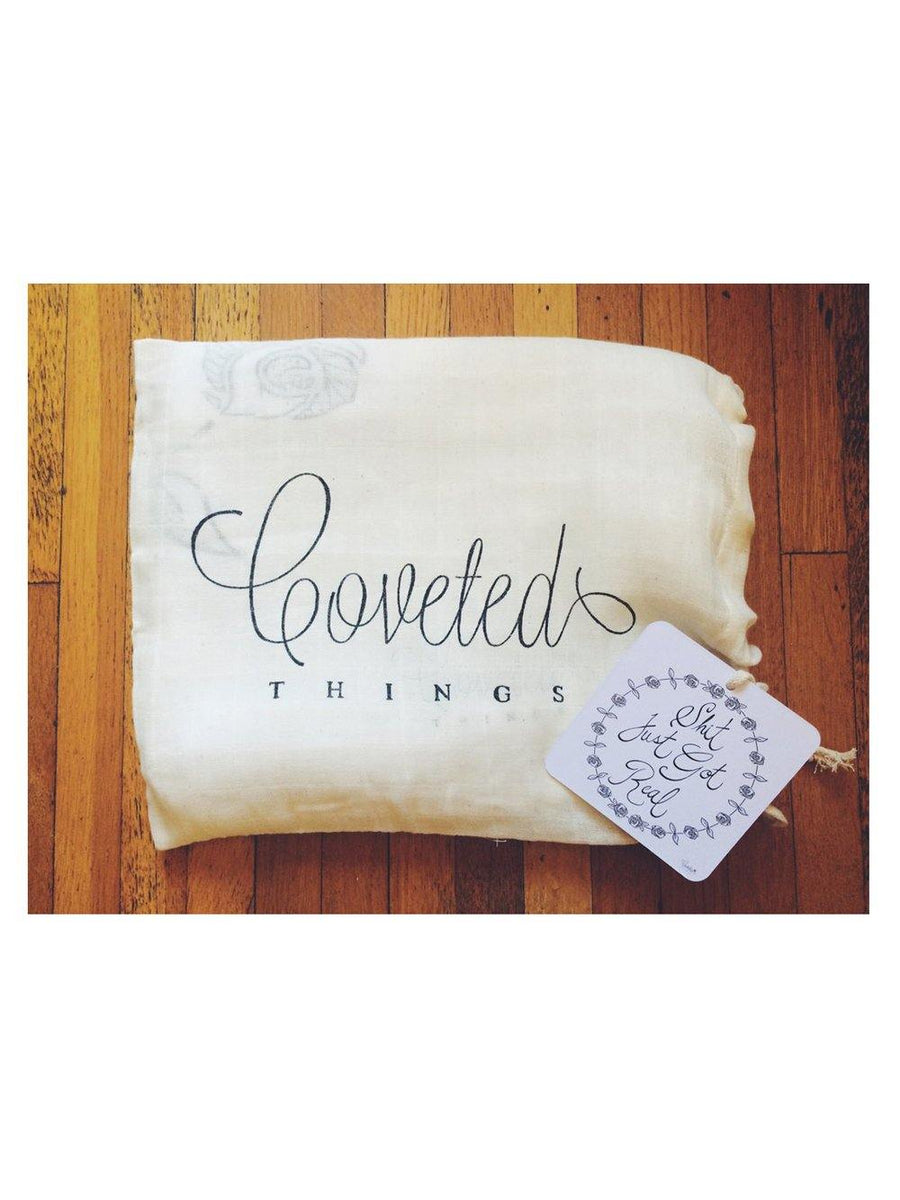 Coveted Things Shit Just Got Real™ Organic Swaddle Scarf™