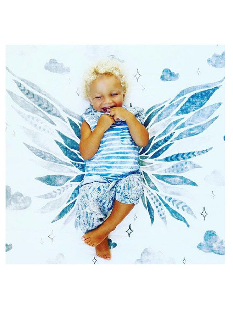 Coveted Things Wings Organic Swaddle Scarf™ - 1love2hugs3kisses Ibiza