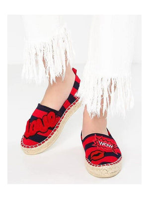 Colors Of California Espadrilles Striped Red Blue - 1love2hugs3kisses Ibiza