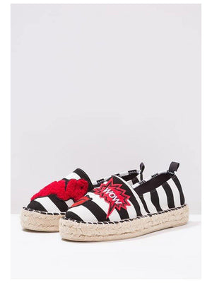 Colors Of California Espadrilles White black - 1love2hugs3kisses Ibiza