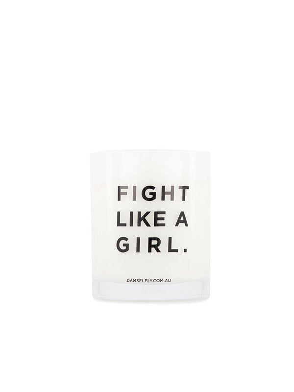 Damselfly Fight Like A Girl - Large Candle - 1love2hugs3kisses Ibiza