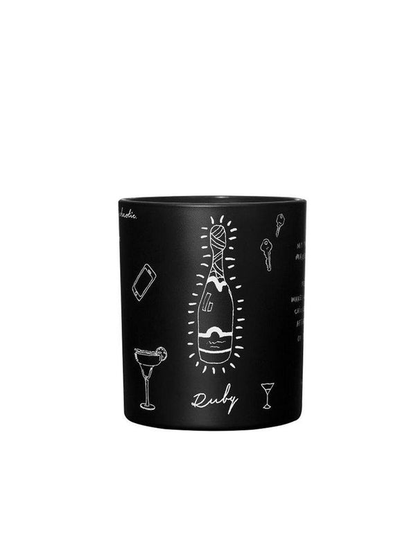 Damselfly Ruby - Large Candle - 1love2hugs3kisses Ibiza