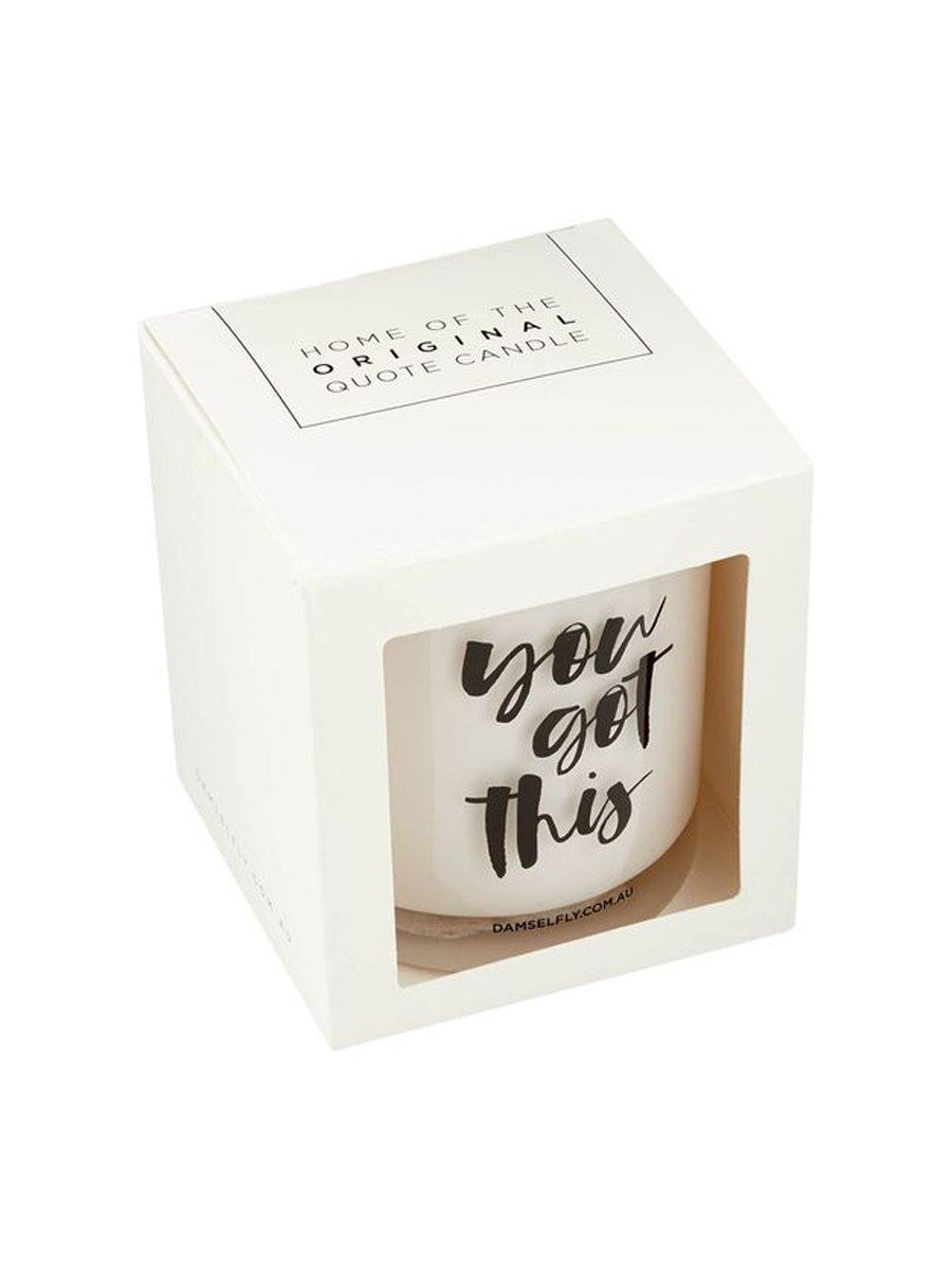 Damselfly You Got This - XL Candle - 1love2hugs3kisses Ibiza
