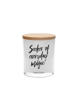 Damselfly Seeker Of Everyday Magic- XL Candle