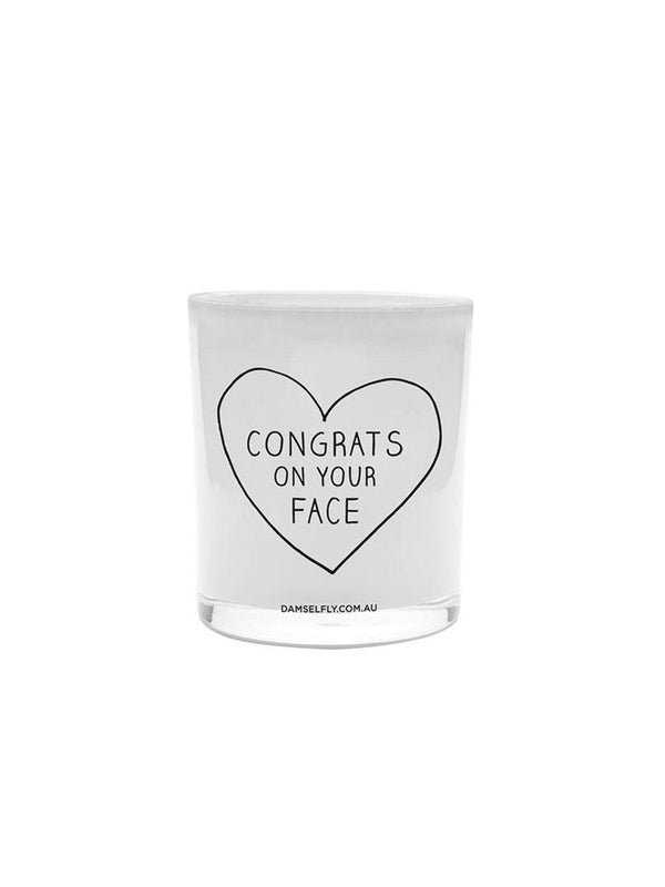 Damselfly Congrats On Your Face - XL Candle - 1love2hugs3kisses Ibiza