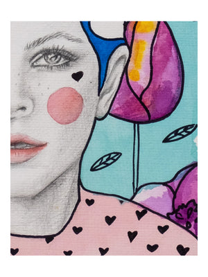 Pink Poppy by Giulia Caruso, Limited Edition - 1love2hugs3kisses ibiza