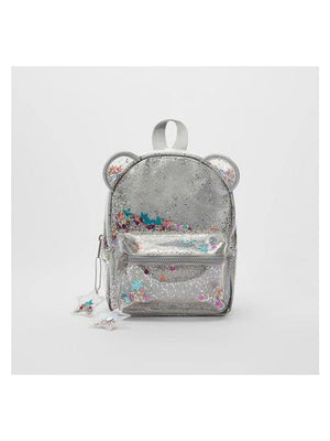 1love2hugs3kisses Glitter Cat Ear Backpack Silver - 1love2hugs3kisses Ibiza