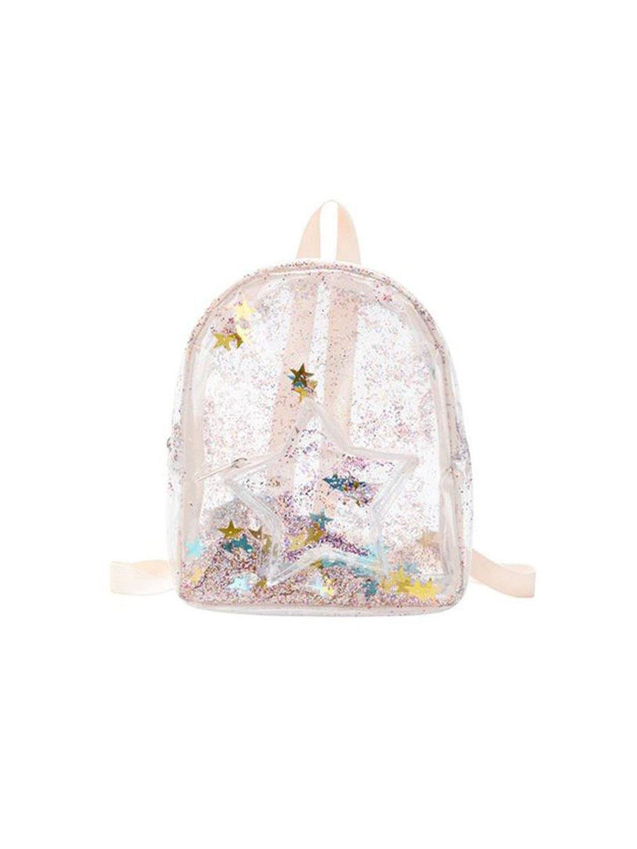 1love2hugs3kisses Glitter Star Backpack Pink - 1love2hugs3kisses Ibiza