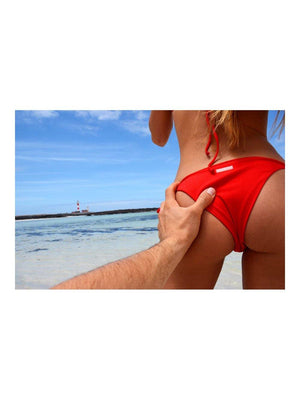 Japutas Bikini Ribbed Red - 1love2hugs3kisses Ibiza