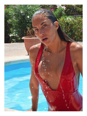 Japutas Swimsuit Ribbed Red - 1love2hugs3kisses Ibiza