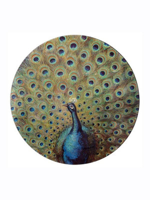 John Deriam Fanned Peacock Plate - 1love2hugs3kisses Ibiza