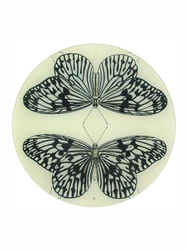 John Deriam Mirrored Butterfly Plate - 1love2hugs3kisses Ibiza
