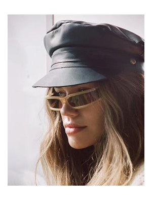 Lack Of Color Lola Cap Leather Black - 1love2hugs3kisses Ibiza