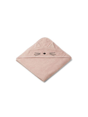 Liewood Augusta Hooded Towel Cat Rose - 1love2hugs3kisses Ibiza